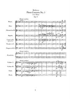 Konzert für Klavier und Orchester Nr.3, Op.37: Teil I by Ludwig van Beethoven