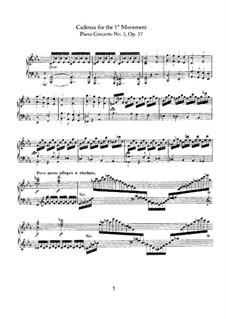 Konzert für Klavier und Orchester Nr.3, Op.37: Kadenz zum Teil I by Ludwig van Beethoven