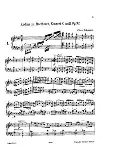 Kadenzen zu Klavierkonzerten No.3 in c-moll und No.4 in G-dur, Op.37, 58: Kadenzen zu Klavierkonzerten No.3 in c-moll und No.4 in G-dur by Ludwig van Beethoven