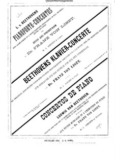 Konzert für Klavier und Orchester Nr.3, Op.37: Version für zwei Klaviere und Streichquintett – Violinstimme I by Ludwig van Beethoven