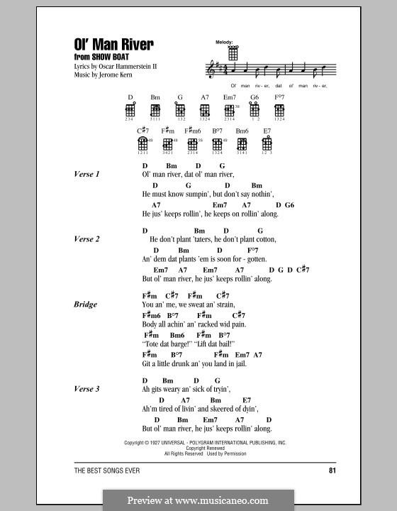Ol' Man River (from Show Boat): Für Ukulele by Jerome Kern