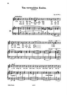 Romanzen und Lieder, Op.14: Nr.2 Vom verwundeten Knaben by Johannes Brahms