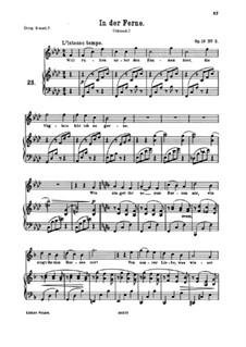Fünf Gedichte, Op.19: Nr.3 In der Fern by Johannes Brahms