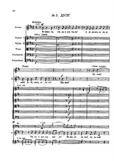 Mainacht: Дуэт Ганны и Левко – партитура by Nikolai Rimsky-Korsakov