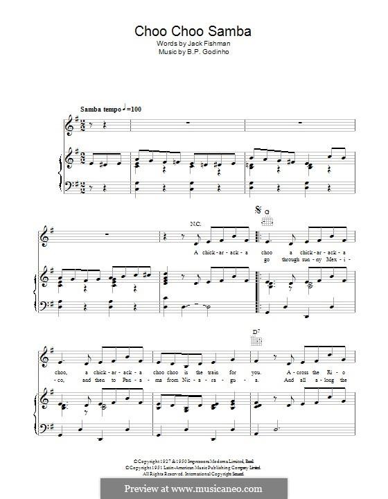 Choo Choo Samba: Für Stimme und Klavier (oder Gitarre) by B.P. Godinho