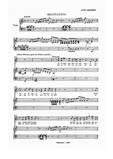 Semiramide: Akt II, für Stimmen und Klavier by Gioacchino Rossini