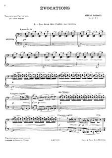 Évocations, Op.15: Für Klavier, vierhändig by Albert Roussel