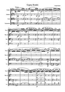 Klaviertrio Nr.39 in G-Dur, Hob.XV/25: Movement III, for string quartet by Joseph Haydn