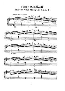 Zwei Etüden, Op.1: Etüde Nr.2 by Paul de Schlözer