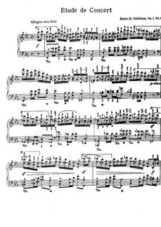 Zwei Etüden, Op.1: Etüde Nr.1 by Paul de Schlözer