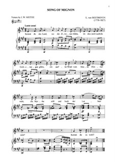 Sechs Lieder, Op.75: Mignon by Ludwig van Beethoven