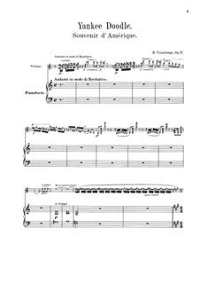 Souvenir d'Amérique, Op.17: Partitur by Henri Vieuxtemps