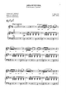 I puritani (The Puritans): Son vergin vezzosa, for soprano and piano by Vincenzo Bellini