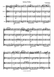 Italian Polka: Für Streichquartett by Sergei Rachmaninoff