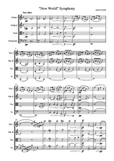 Teil II (Largo): Version für Streichquartett by Antonín Dvořák