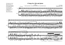 4 Songs for alto and piano, based on poems of William Butler Yeats: Nr.4, MVWV 376 by Maurice Verheul