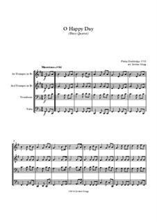 O Happy Day: Für Blechblasquartett by Philip Doddridge