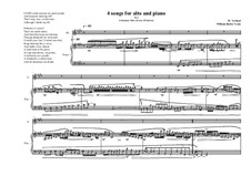4 Songs for alto and piano, based on poems of William Butler Yeats: Nr.2, MVWV 374 by Maurice Verheul
