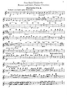 Vollständiger Ouvertüre: Klarinettenstimme I by Pjotr Tschaikowski