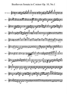 Sonate für Klavier Nr.5, Op.10 No.1: Für Klarinette by Ludwig van Beethoven