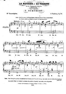 Chansons de la Meunière. Le Meunier et le Torrent: Bearbeitung für Klavier, Op.70 No.10 by Franz Schubert