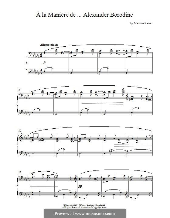 À la manière de, M.63: Borodine by Maurice Ravel