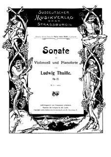 Sonate für Cello und Klavier, Op.22: Solostimme by Ludwig Thuille