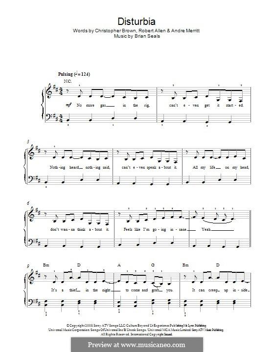 Disturbia (Rihanna): Für Klavier by Brian Kennedy Seals