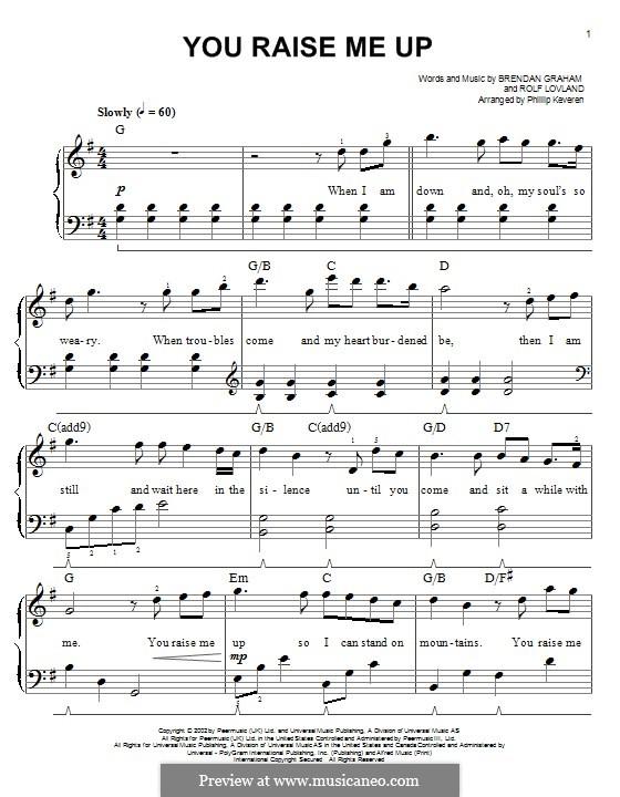 Piano version: Für einen Interpreten by Brendan Graham, Rolf Løvland