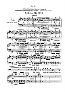 Aroldo: Akt III. Bearbeitung für Stimmen und Klavier by Giuseppe Verdi