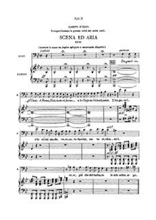 Attila: Akt II. Bearbeitung für Stimmen und Klavier by Giuseppe Verdi