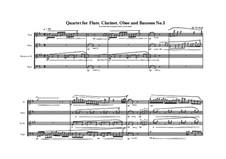 3 Quartets for Flute, Clarinet, Oboe and Bassoon: Quartet No.3, MVWV 389 by Maurice Verheul