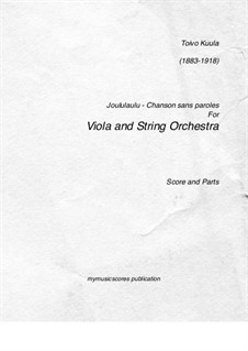 Chanson sans paroles, Op.22/1a: For viola and string orchestra by Toivo Kuula