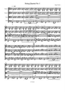 String Quartet No.1: Vollpartitur by Sergei Noskov
