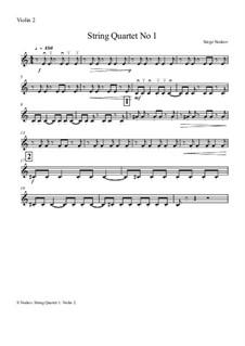 String Quartet No.1: Violin 2 part by Sergei Noskov