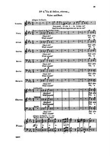 Fragmente: Akt I Nr.4 Un dì felice, eterea, für Solisten, Chor und Klavier by Giuseppe Verdi
