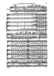 Fragmente: Akt I Nr.5 Si ridesta in ciel l'aurora, für Solisten, Chor und Klavier by Giuseppe Verdi