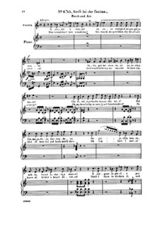 Fragmente: Akt I Nr.6 Ah, fors' è lui che l'anima, für Stimmen und Klavier by Giuseppe Verdi