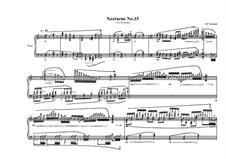 Nocturne No.15 for piano, MVWV 759: Nocturne No.15 for piano by Maurice Verheul