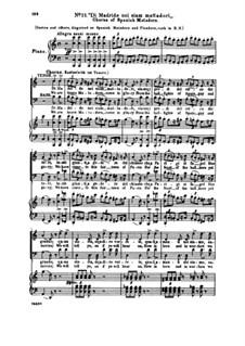 Fragmente: Akt II Nr.13 Di Madride noi siam mattadori, für Solisten, Chor und Klavier by Giuseppe Verdi