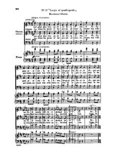 Fragmente: Akt III Nr.17 Largo al quadrupede, für Chor und Klavier by Giuseppe Verdi