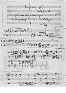 Höret, meine Kinder für sechsstimmigen Frauenchor: Fassung II by Ernst Levy