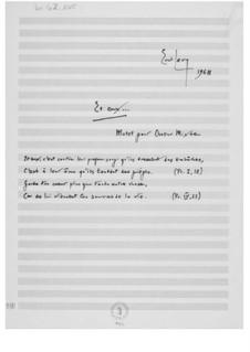 Et eux... (Motette für gemischten Chor a cappella): Et eux... (Motette für gemischten Chor a cappella) by Ernst Levy