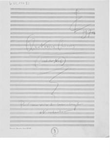 Kantate Nr.6 'Quatrains chinois': Skizzen by Ernst Levy
