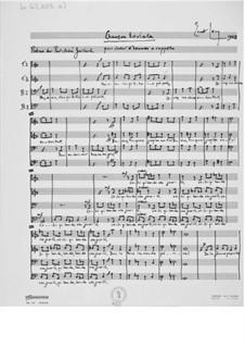 Chanson triviale für Männerchor a cappella: Chanson triviale für Männerchor a cappella by Ernst Levy