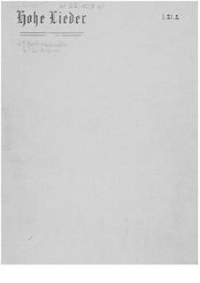 Hohe Lieder, fünf Gesänge aus dem Buche 'Gitanjali': Vollpartitur by Ernst Levy