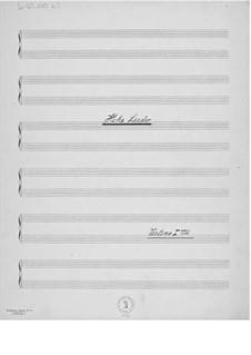 Hohe Lieder, fünf Gesänge aus dem Buche 'Gitanjali': Stimmen by Ernst Levy