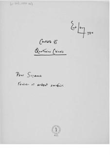 Kantate Nr.6 'Quatrains chinois': Vollpartitur by Ernst Levy