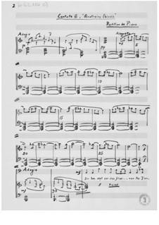 Kantate Nr.6 'Quatrains chinois': Klavierauszug mit Singstimmen by Ernst Levy