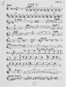 Kantate Nr.6 'Quatrains chinois': Orchesterstimmen by Ernst Levy